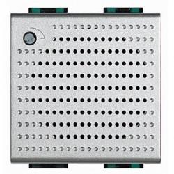 Sonerie Bticino NT4355/12 Living Light - Sonerie de bronz 230V c.a., 3 sunete distincte, 2M, argintiu
