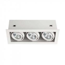 Spot Arelux XTechno TC03 MWH - Corp iluminat fara bec 3X50W 12V GU5.3 IP20 MWH, alb