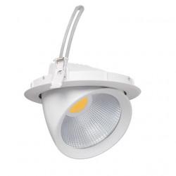 Spot Kanlux 22840 HIMA MCOB - Corp iluminat fix incastrat LED, 30W, 4000k, 2100lm, IP20, alb