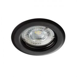 Spot Kanlux 26791 ALOR - Inel spot fix incastrat LED GU10, max 35W, IP 20, negru