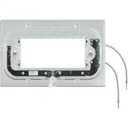 Suport Bticino HA4704X Axolute - Suport luminos, 4 module, pentru rame rectangulare