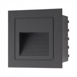 Aplica Arelux XGhost GS02NWIP65 BK - Corp incastrat cu led 2W 3000K IP65 MWH (5f), negru