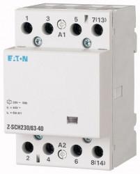 Contactor modular Eaton 248856 - Z-SCH230/63-40-Contactor modular 63A, 4ND, cda 230V