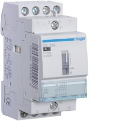 Contactor modular Hager ERC428 - CONTACTOR MANUAL, 25A, 3ND+1NI, 230V