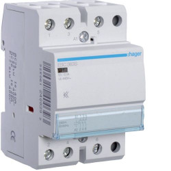 Contactor modular Hager ESC264 - CONTACTOR, 63A, 2NI, 230V
