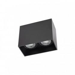 Corp de iluminat Arelux XCard CD02 SBK - Plafoniera, Gu10, max 2x50W, IP20, negru