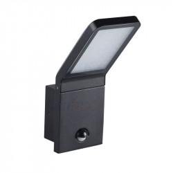 Corp iluminat Kanlux 23551 SEVIA LED 26 - Aplica gradina cu senzor miscare, SMD, 9W, 4000k, 600lm, IP54, h=26cm, negru
