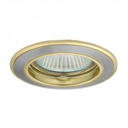 Corp iluminat Kanlux 2813 BASK CTC-5514 - Spot incastrat, Gx5,3, max 50W, 12V, IP20, nichel/auriu