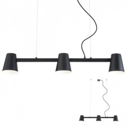Corp iluminat Redo 01-1555 Mingo - Lustra, max 3x42W, E27, IP20, negru