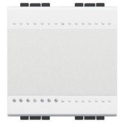 Intrerupator Bticino N4001M2A Living Light - Intrerupator simplu 16A - 250V, 2 module, borne automate, alb