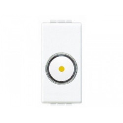 Intrerupator Bticino N4406 Living Light - Variator rotativ, 100W-500W, 1M, 250V, alb