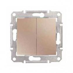 Intrerupator Schnedier SDN0300168 Sedna - Intrerupator dublu, 10 AX - 250 V Titan