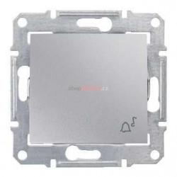 Intrerupator Schneider SDN0800360 Sedna - Intrerupator IP44 cu revenire cu simbol sonerie,10 AX - 250 V, aluminiu