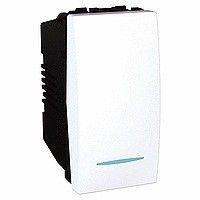 Intrerupator Schneider Unica MGU3.163.18 - Intrerupator cap scara, cu led, 16A 1M, alb