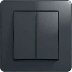 Intrerupator Tem SE50NB-B Ekonomik - Intrerupator dublu negru
