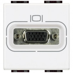 Priza Audio Bticino N4282 Living Light - Conector HD15, 1M, alb