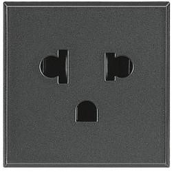 Priza Bticino HS4126 Axolute - Priza standard USA-Euro, 2P, 16A, 250V, 2M, negru