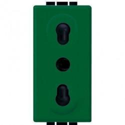 Priza Bticino L4180V Living Light - Priza standard italian, 2P+T, 16A, 1M, verde