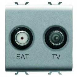 Priza SAT/TV Gewiss GW14383 Chorus -Priza SAT/TV de capat, 2M, TITANIUM