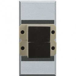 Priza Semnal Bticino HC4268SC Axolute - Conector fibra optica, 1M, argintiu