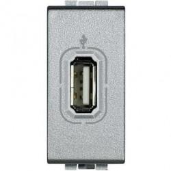 Priza semnal Bticino NT4285 Living Light - Conector USB, 1M, argintiu