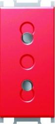 Priza Tem VM20RD-B Modul - Priza simp CP 1m rosu