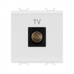 Priza TV Gewiss GW10367 Chorus -Prita TV de capat, atenuare 0dB, 2M, alb