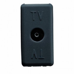 Priza TV Gewiss GW21229 System - Priza TV intermediara, atenuare 20dB, ,mama, 1M, negru
