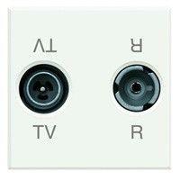Priza TV/RD Bticino HD4213D Axolute - Priza TV-RD, 2M, alb