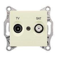 Priza TV/SAT Schneider SDN3401647 Sedna - Priza TV/SAT, de capat, atenuare 1dB, bej