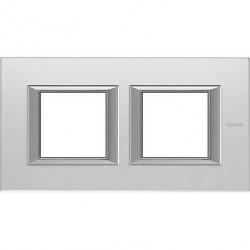 Rama Bticino HA4802M2HVSA Axolute - Rama din sticla, rectangulara, 2+2 module, st. german, mirror glass