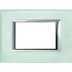 Rama Bticino HA4803VKA Axolute - Rama din sticla, rectangulara, 3 module, st. italian, kristall glass