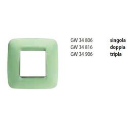 Rama Gewiss GW34816 Eco - Rama Eco60, 2P, termoplastic, oriz, verde venetian