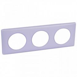 Rama Legrand 68883 Celiane - Rama 3 posturi, polimer, interax 71mm, lavanda