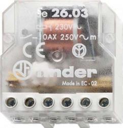 Releu Finder 260880240000 - Releu de impuls (pas cu pas) 24V, AC, 10A