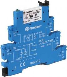Releu Finder 385100240060 - Releu comutatie 24V, AC/DC, 1C, 6A