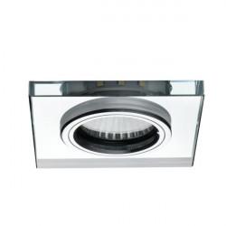 Spot Kanlux 24417 SOREN L-SR - Spot cu led ornamental cu lumina rece, Gu10, PAR16, max 20W,IP20, sticla, argintiu