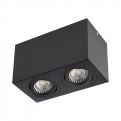 Aplica Arelux XBrick BX02 BK - Aplica orientabila fara bec 2x50W GU10 IP20 BK, negru