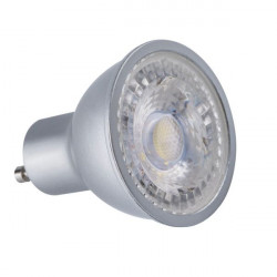 Bec Kanlux 24662 PRODIM - Bec spot dimabil, GU10, 7,5W, 6500K, A+, 120 grade, argintiu
