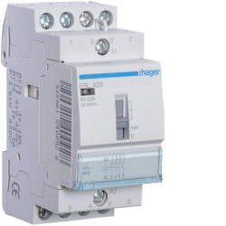 Contactor modular Hager ERL425 - CONTACTOR MANUAL, 25A, 4ND, 8/12V