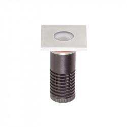 Corp iluminat Arelux XGround GD12WW45 - Corp incastrat cu led 1X1W CREE 3000K 45grd IP67 SS (5f), aluminiu
