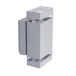 Corp iluminat Kanlux ZEW EL 22442 - Corp iluminat fatada 2x max 35W, GU10, PAR16, IP44, argintiu