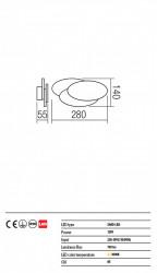 Corp iluminat Redo 01-1445 Gamer - Aplica led, 12W, 3000k, 760lm, alb