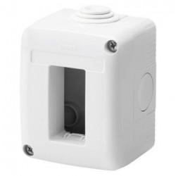 Doza Gewiss GW27001 System - Doza aparenta, IP40, 1 module, alb