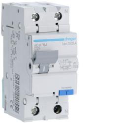Intrerupator automat Hager AD856J - DISJ.DIF. P+N 6A/30MA, C, 4,5KA