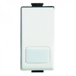 Intrerupator Bticino AM5005L Matix - Buton ND 16A iluminabil , fara led, 1 modul, alb