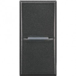 Intrerupator Bticino HS4003 Axolute - Intrerupator cap scara 16A - 250V, 1 modul, comanda axiala, negru