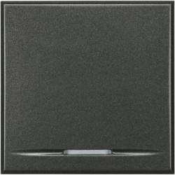 Intrerupator Bticino HS4054/2 Axolute - Intrerupator cap cruce, 16A - 250V, 2 module, rocker, negru