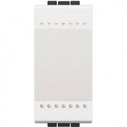 Intrerupator Bticino N4001N Living Light - Intrerupator simplu 16A - 250V, 1 modul, borne cu surub, alb