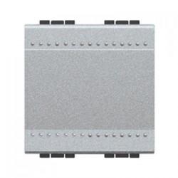 Intrerupator Bticino NT4001M2A Living Light - Intrerupator simplu 16A - 250V, 2 module, borne automate, argintiu